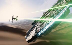 Обои Звездные Войны, звездолет, Хан Соло, Тысячелетний Сокол