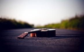 Картинка дорога, фон, гитара