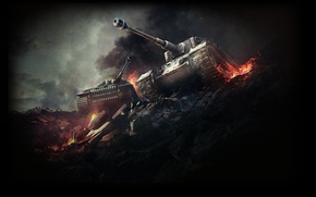 Картинка Мир танков, World of Tanks, Tiger P, Tiger I(Tiger H), немецкий тигр