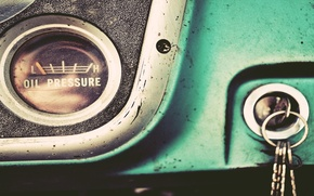 Картинка desktop, vintage, style, retro, old, keys, dashboard, instrument panel