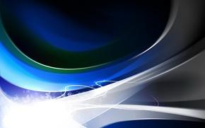 Обои линии, синий, Изгибы