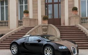 Обои Ступеньки, Гравий, Bugatti Veyron, Лестница