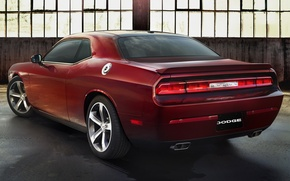 Картинка фон, Dodge, Challenger, вид сзади, Muscle car, Мускул кар, R T, 100th Anniversary