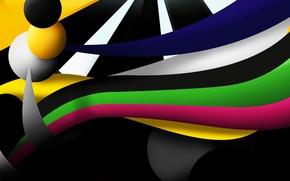 Картинка линии, полоса, цвет, шар, шарик, объем