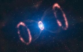Обои звезды, туманность, пульсар, сверхновая