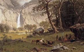 Картинка картина, живопись, painting, 1864, Albert Bierstadt, the Yosemite Fall, Cho-looke
