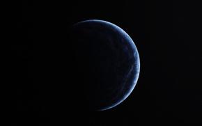 Картинка dark, blue, planet, sci fi