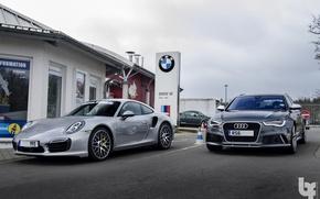 Картинка Audi, 911, Porsche, RS6, 991 Turbo S
