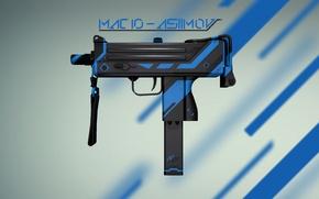 Картинка Оружие, Gun, Valve, Counter Strike, Steam, Skin, Weapon, CS:GO, Global Offensive, Workshop, Asiimov, Coridium, MAC …