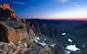 Картинка небо, горы, камни, долина
