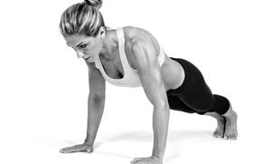 Обои woman, sportswear, fitness, pushups, pose