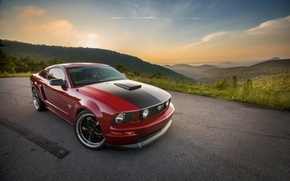 Картинка Mustang, Ford, 2009, 2005, Hills, GT, Distance