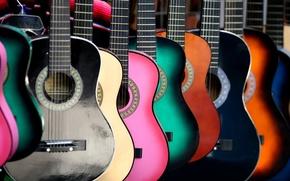 Картинка фон, цвет, гитары