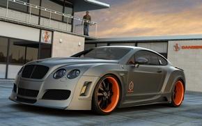 Картинка car, серый, автомобиль, спортивный, Bentley Continental GT