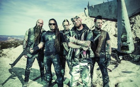 Картинка music, metal, Five Finger Death Punch, alternative, Chris Kael, Jeremy Spencer, Jason Hook, Ivan Moody, …