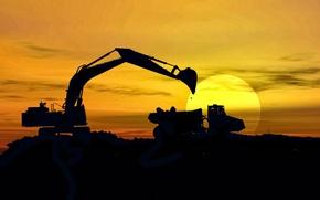 Картинка shadows, sunlight, machinery, mining