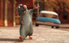 Картинка настроение, фильм, мультик, минимализм, позитив, мышь, Рататуй
