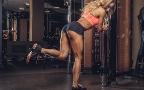 Обои legs, bodybuilder, muscles, fitness, workout, blonde