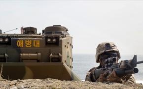 Картинка soldier, Weapon, Korea, other