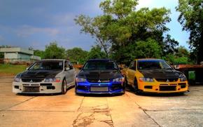 Картинка тюнинг, три, Mitsubishi, Lancer, EvolutionIXGT