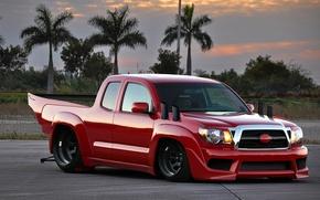 Картинка Красный, Red, Toyota, Power, Мощь, Тойота, Tacoma, Такома, Драгстер, Dragster