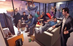 Обои Лос анджелес, Нико Беллик, Niko Bellic, Джонни Клебиц, Grand Theft Auto Legends, Tommy Vercetti, Johnny ...