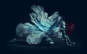 Картинка цветок, девушка, fantasy, I Watched You Change, derekprospero, татуаж