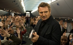 Картинка триллер, боевик, Liam Neeson, Лиам Нисон, Non-Stop