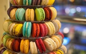 Картинка печенье, разноцветное, ассорти, macaron, макарун