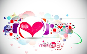 Обои вектор, день святого валентина, праздник, абстракция, сердечки, Happy Valentine's day