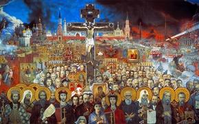 Обои Илья Глазунов, Вечная Россия, 1988г