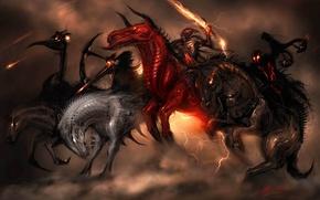 Картинка оружие, лошади, всадник