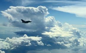 """Картинка небо, облака, самолёт, """"Topнадо"""""""