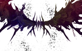 Картинка девушка, крылья, аниме, арт, лента, mahou shoujo madoka magica, akemi homura, девушка-волшебница мадока