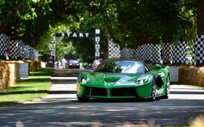 Обои ferrari, laferrari, f70, v12, green, goodwood festival of speed