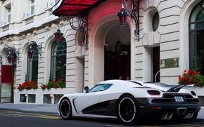 Картинка белый, Koenigsegg, суперкар, supercar, agera, back, агера р, кёнигсегг