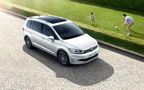 Картинка Авто, Белый, Volkswagen, Машина, Car, 2016, Touran L