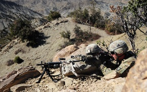 Картинка Afghanistan, Providing Security, M240 machinegun