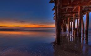 Картинка пляж, пейзаж, океан, пирс