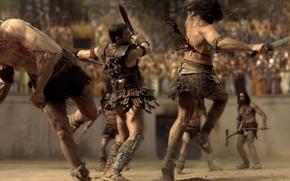 Картинка сериал, Spartacus, Andy Whitfield, казнь, поединок, гладиатор, песок и кровь, спартак, Телесериал, Blood And Sand