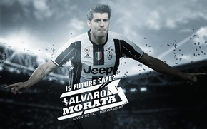 Картинка wallpaper, sport, stadium, football, player, Alvaro Morata, Juventus FC, Juventus Stadium