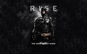 Обои The Dark Knight Rises, Кристиан Бэйл, Темный рыцарь: Возрождение легенды, Batman, Черный фон, Бэтмен, Christian ...
