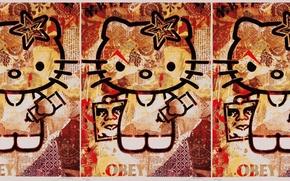 Картинка hello, obey, kitty