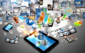 Картинка технологии, планшет, сенсор, инновации
