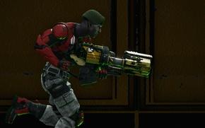 Картинка оружие, фон, солдат, Unreal Tournament