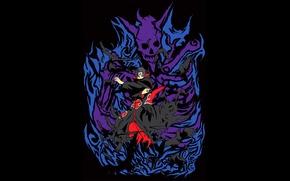 Картинка вороны, Наруто, Naruto, Itachi, Uchiha, Susanoo, шеренган