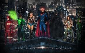 Картинка batman, superman, wonder woman, flash, justice league, aquaman