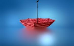 Картинка вода, красный, зонт, red, umbeella, Josep Sumalla