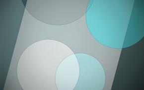 Картинка круги, абстракция, зеленый, геометрия, material