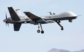 Картинка Reaper, MQ-9, General Atomics Aeronautical Systems, GBU-12 Paveway II, разведывательно-ударный БПЛА, управляемая авиационная бомба с …